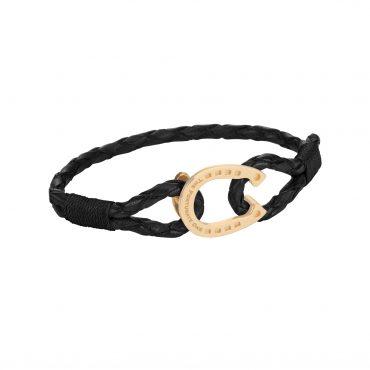 Hästsko-smycken-armband-svart-guld-sida