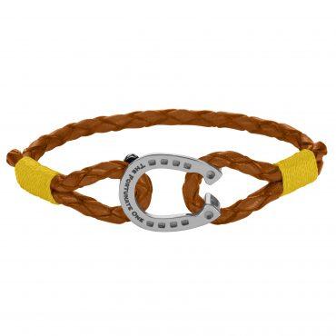 Horseshoe-jewellery-Steel-Palomino-Leather-Bracelet-font
