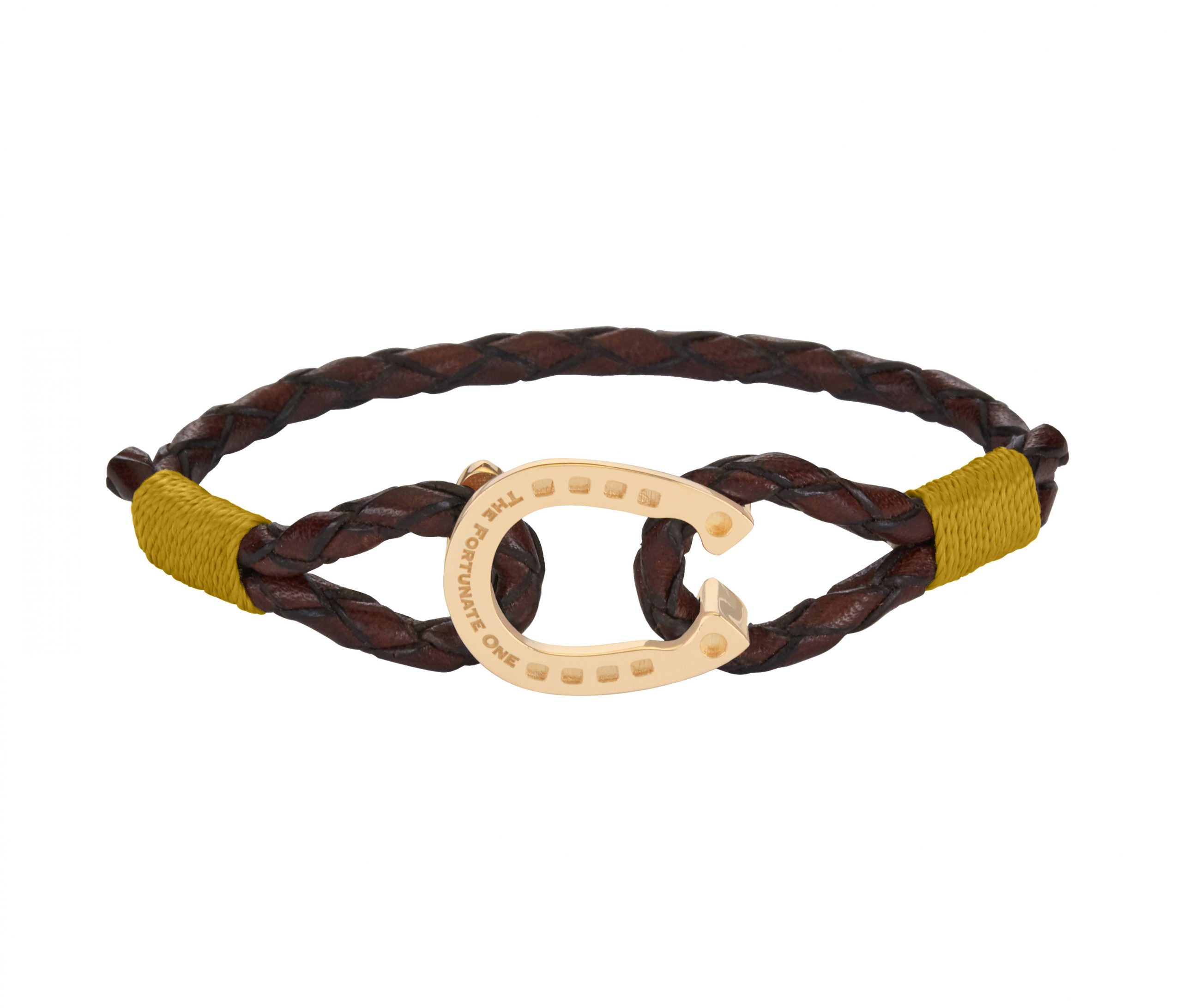 Horseshoe-jewellery-gold-Clydesdale-brown-yellow-the-fortunate-one-front