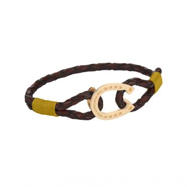 Horseshoe-jewellery-gold-Clydesdale-brown-yellow-the-fortunate-one-side
