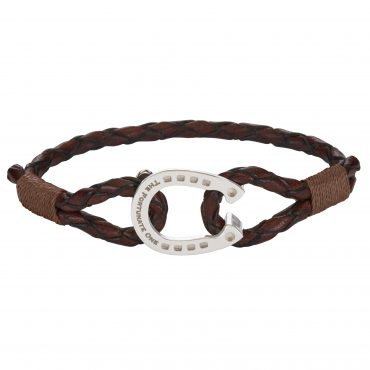 Horseshoe-jewellery-silver-Clydesdale-brown-the-fortunate-one-front