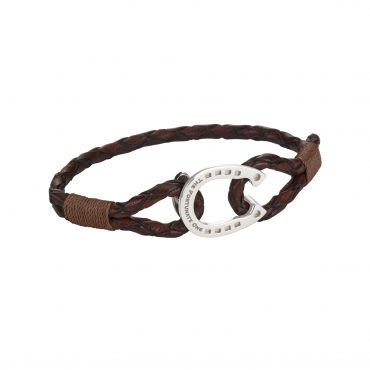 Horseshoe-jewellery-silver-Clydesdale-brown--pecan-the-fortunate-one-side