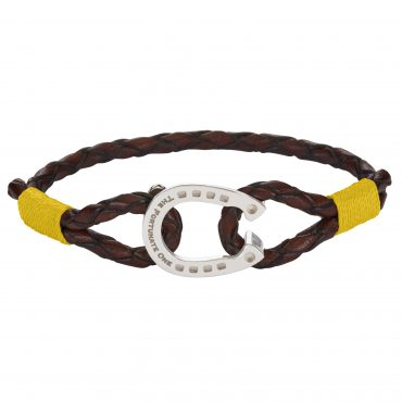 Horseshoe-jewellery-silver-Clydesdale-brown-yellow-the-fortunate-one-front