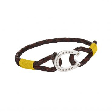 Horseshoe-jewellery-silver-Clydesdale-brown-yellow-the-fortunate-one-side